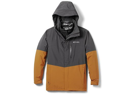 columbia wild card interchange 3-in-1 jacket mens