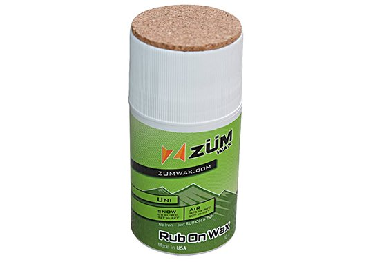 zumwax rub on wax ski snowboard